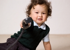 Child Answering Phone