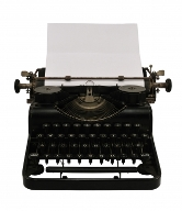 Old-school resume writing machine